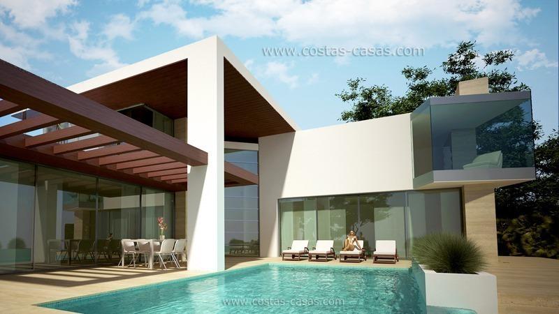 Ganga moderna villa nueva en venta marbella estepona for Estilo moderno contemporaneo