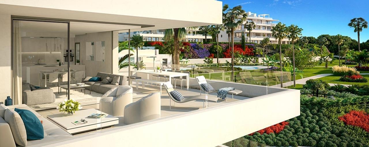 Costas casas marbella inmobiliaria venta villas for Apartamentos modernos playa