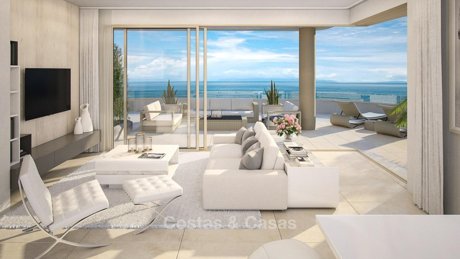 Nueva apartamentos modernos frente al mar en venta en for Apartamentos modernos playa