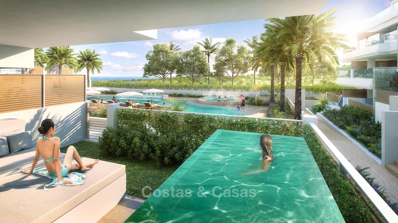 nuevos apartamentos con piscina privada en venta mijas